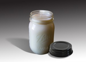 Mason Jar Candle - Black Lid