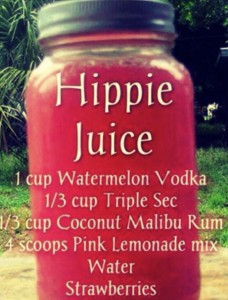 Mason Jar Hippie Juice